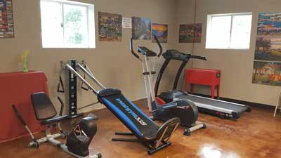 Enchanted Oaks RV Park in Rockport, TX - Our Exercise Room